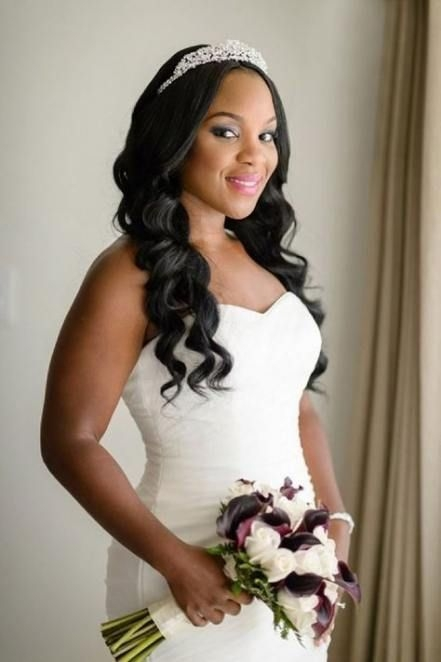 Awesome 41 trendy wedding hairstyles for black women lace African American Wedding Hairstyles Half Up And Half Down