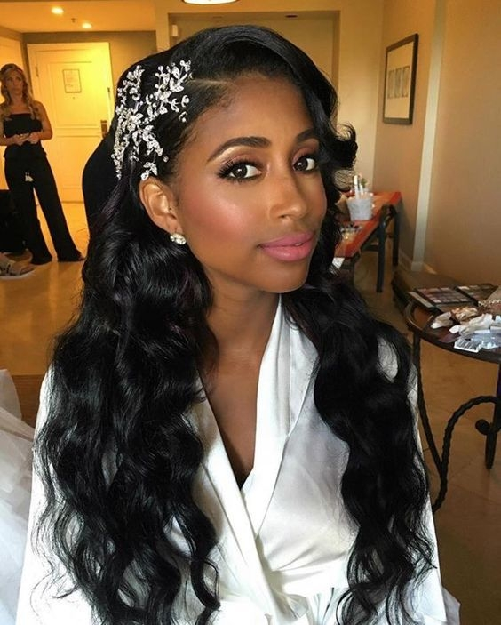 Awesome 43 black wedding hairstyles for black women in 2020 black African American Wedding Hair Styles