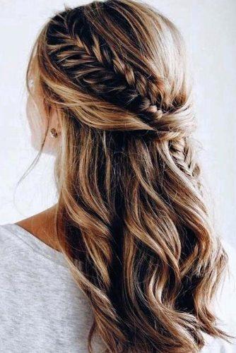 Awesome 45 perfect half up half down wedding hairstyles wedding Bridal Hairstyles Half Up Braid Choices