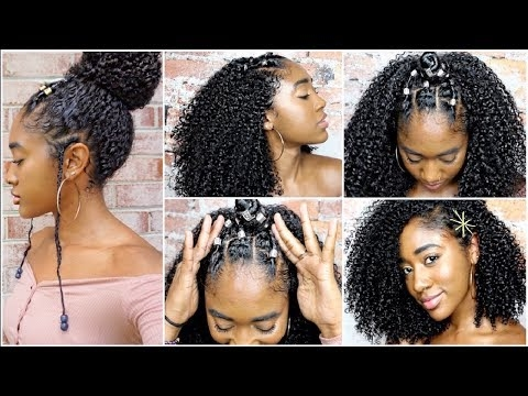 Awesome 5 curly hairstyles for natural hair wash routine youtube Curly Styles For African American Hair Designs