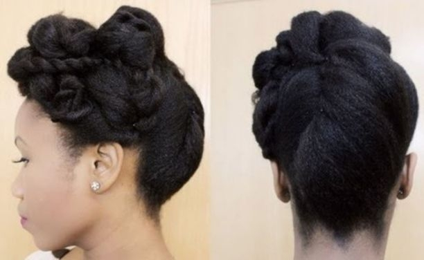 Awesome 50 cute updos for natural hair in 2020 natural hair styles Pin Up Styles For Short Natural Hair Choices