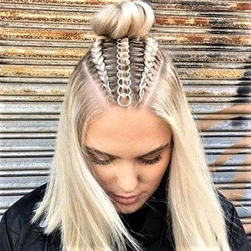 Awesome 50 half up half down hairstyles youll totally love hair Hair Up Braid Styles Choices