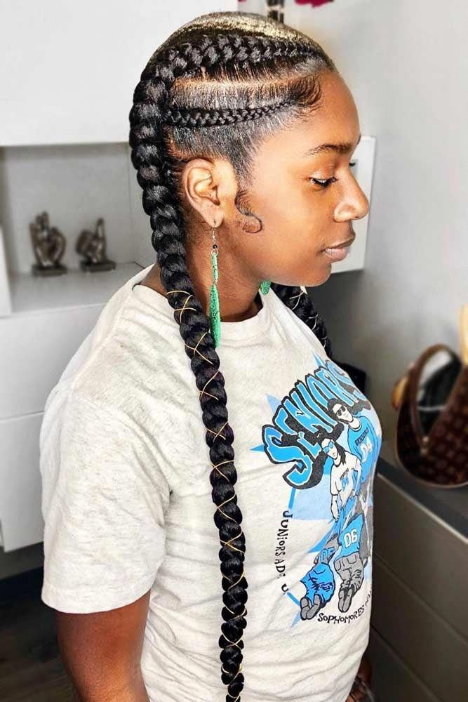 Awesome 55 enviable ways to rock the latest black braided hairstyles Simple Braid Styles For Black Hair Ideas