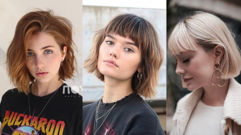 Awesome 55 hot short bobs with bangs haircuts and hairstyles for 2020 Short Hair Bobs With Bangs Choices