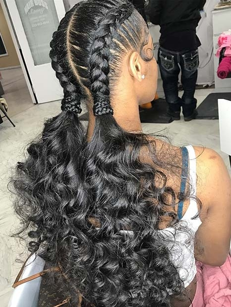 Awesome 88 best black braided hairstyles to copy in 2020 stayglam Black Hair French Braid Styles Ideas