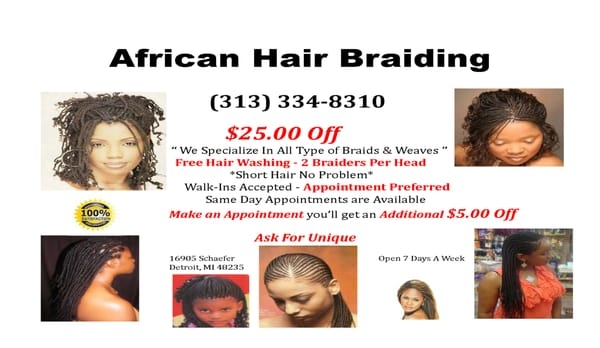 Awesome african hair braiding unique 16905 schaefer hwy detroit African Hair Braiding Detroit Mi Ideas