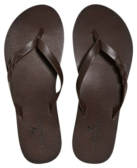 Awesome american eagle outfitters brown braided leather flip flop sandals size us 6 33 off retail Brown Braided Sandals American Eagle