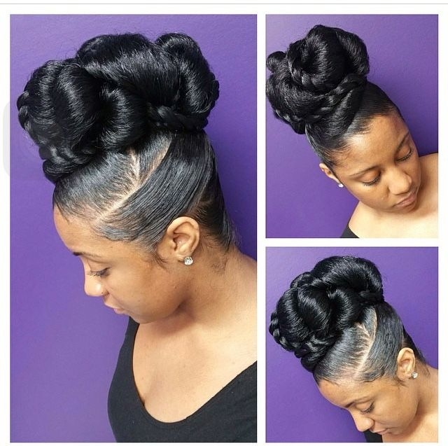 Awesome beautiful updo on nautual african american hair natural Updo Hairstyles African American Designs