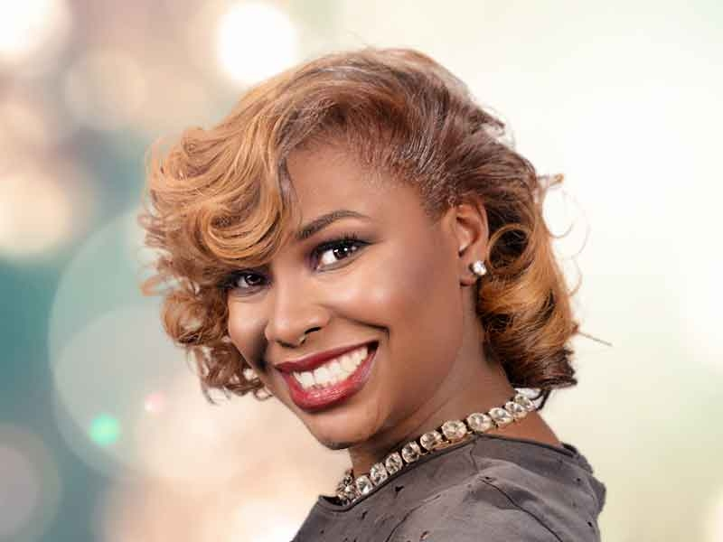 Awesome blonde hair color for african american women from lacey African American Honey Blonde Hairstyles Designs
