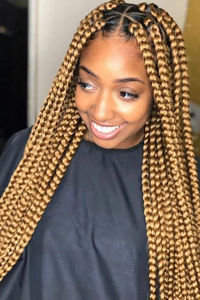 Awesome box braid styling ideas for most exquisite tastes Hair Extensions Braids Styles Ideas