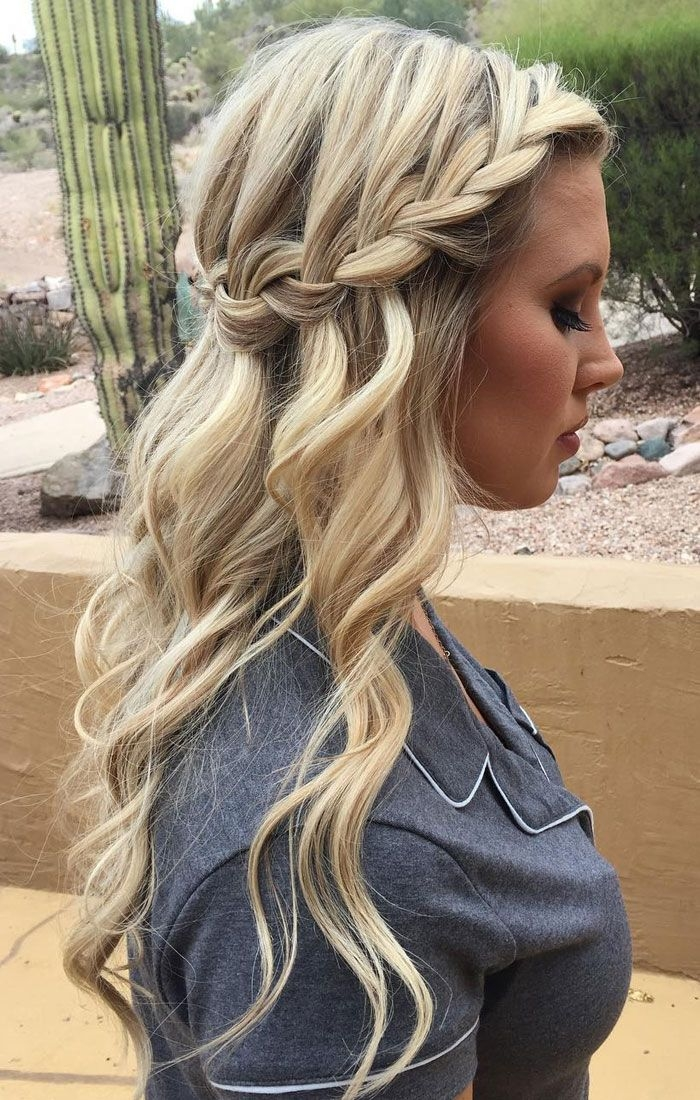 Awesome bridesmaid waterfall braid hairstyle inspiration hair Braided Hair For Bridesmaids Inspirations