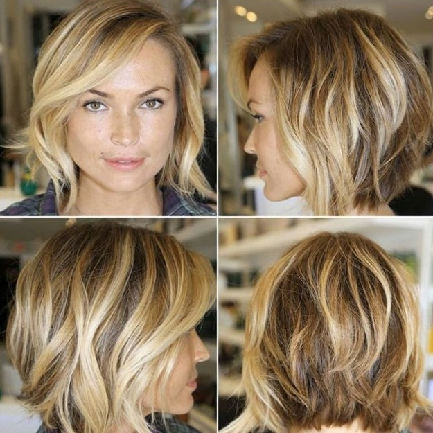 Awesome chic layered bob haircut with side swept bangs hairstyles Short Haircuts With Side Swept Bangs And Layers Ideas