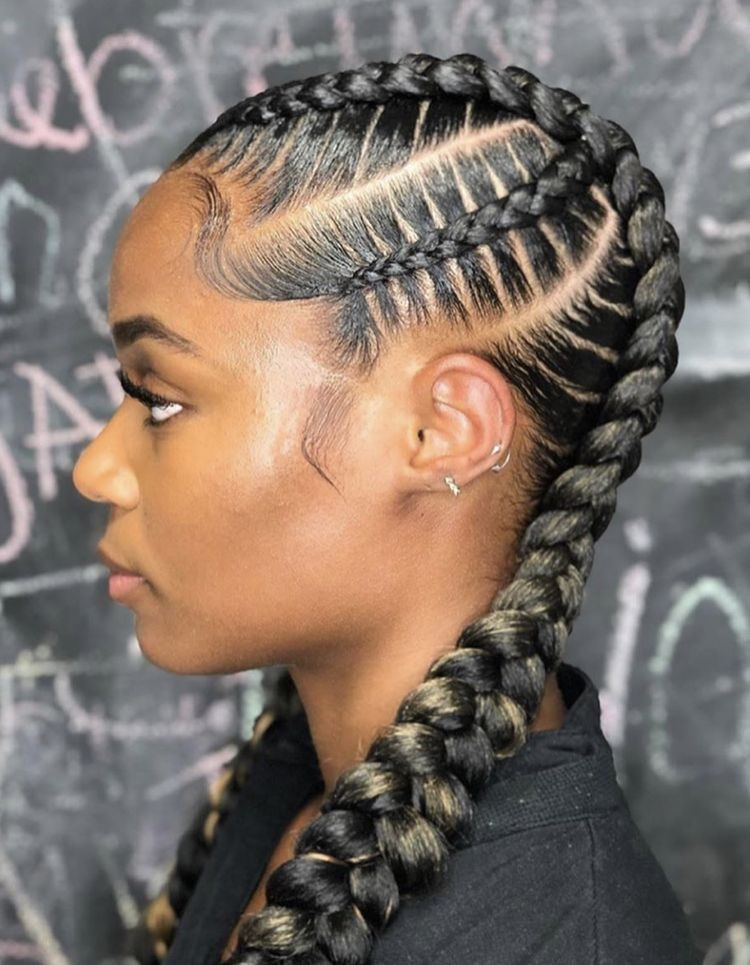 Awesome cornrow braid hairstyles in 2020 feed in braids hairstyles Corn Row Hair Styles Braids Inspirations