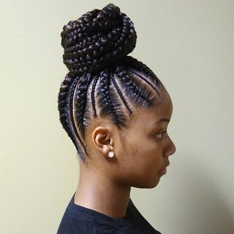 Awesome cornrows ponytail natural hair styles cornrow ponytail Cute Braiding Hair Styles Choices
