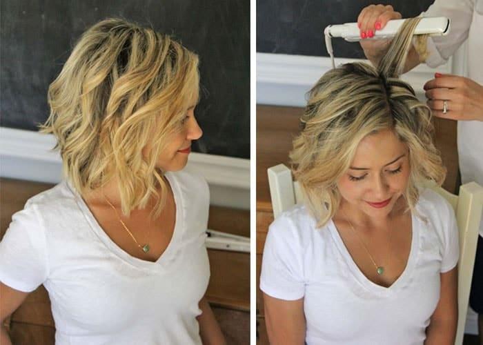 Awesome easy beach waves for short hair see mama go Short Hair Beach Styles Choices