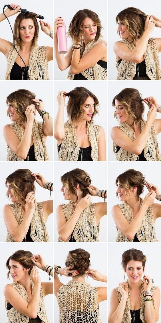 Awesome easy everyday updos for medium hair diyhairstyles hairdos Easy Everyday Hairstyles For Short Curly Hair Choices