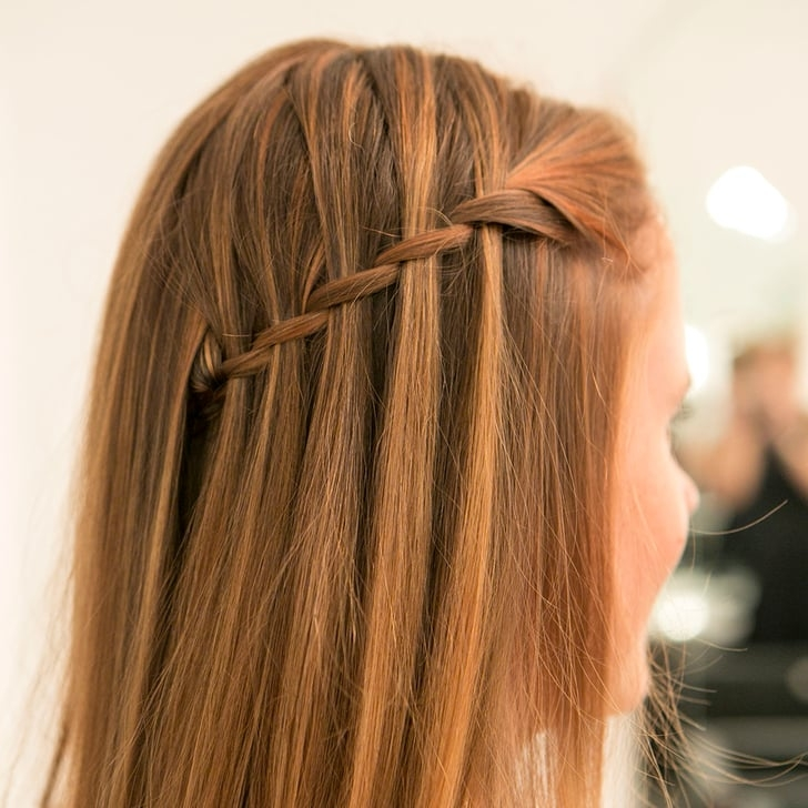 Awesome easy waterfall braid tutorial with pictures popsugar beauty Braid Hairstyles Step By Step With Pictures Inspirations