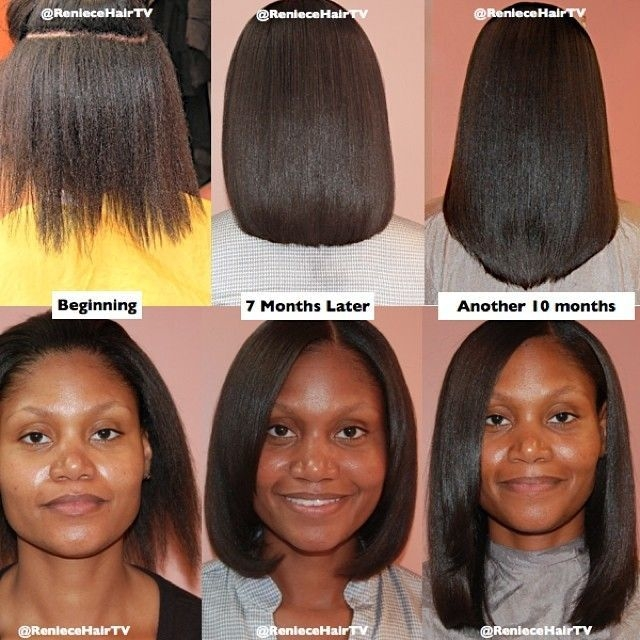 Awesome found on google from pinterest relaxed hair growth Cute Hairstyles For Short Relaxed Hair Inspirations