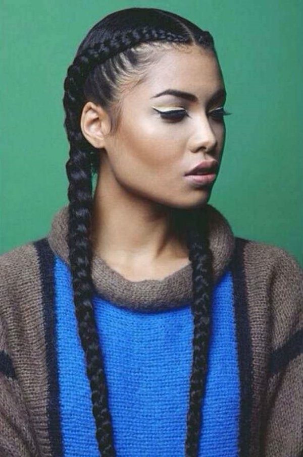 Awesome french braid hairstyles for black women easy braid haristyles French Braids Hairstyles For Black People Choices