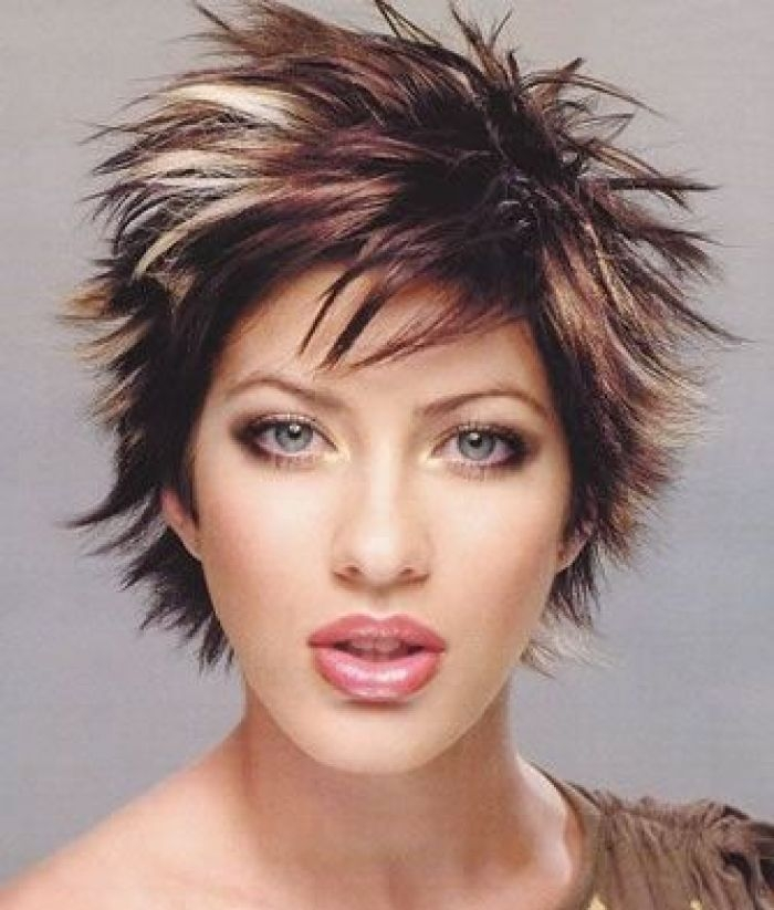 Awesome hairstyle cute beautiful girl model face short spiky Short Spiky Red Hair With Blonde Highlights Ideas