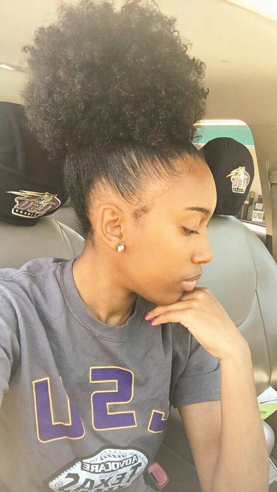 Awesome high bun natural hair hairstyles curly natural bun african Hairstyles African American Natural Hair Ideas