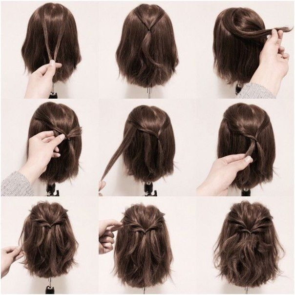 awesome ideas for hairstyles short hair styles braids for Cute Simple Hairstyles For Short Thick Hair Ideas