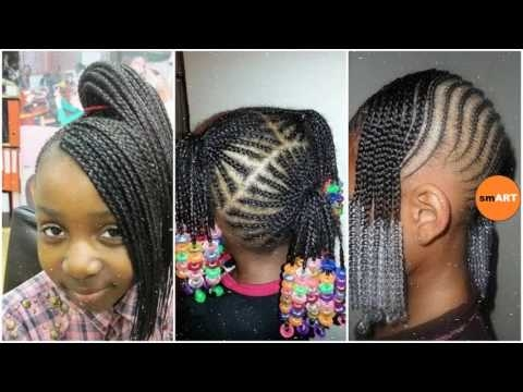 Awesome lil girl braiding hairstyles little black girl natural hair styles Little Black Girl Braided Hairstyles Ideas
