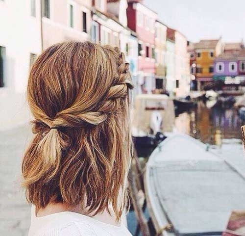 Awesome make up your busy morning wearing easy hairstyle for Cute Fast Hairdos For Short Hair Ideas