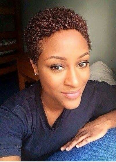 Awesome natural hair mag short textured curly colored style short African American Short Textured Hairstyles