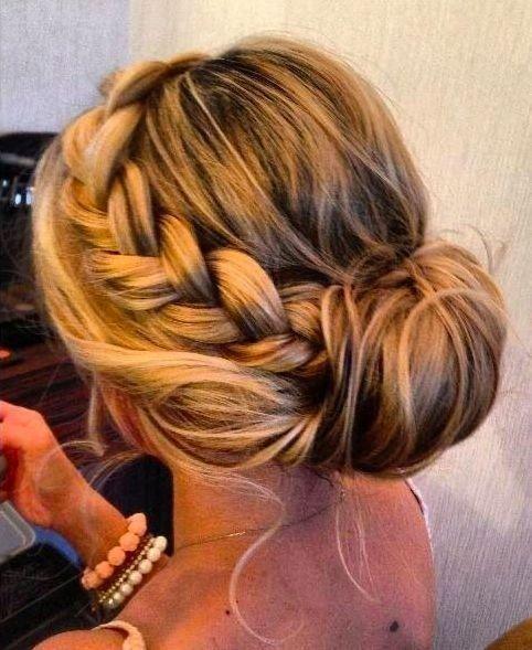 Awesome perfect side braid bun hair and beauty tutorials hair Braid Bun Hairstyles For Medium Hair Ideas