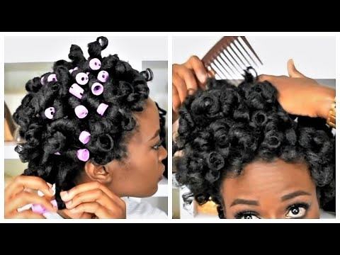 Awesome perm rod set Styling Short Black Hair Without Heat Ideas