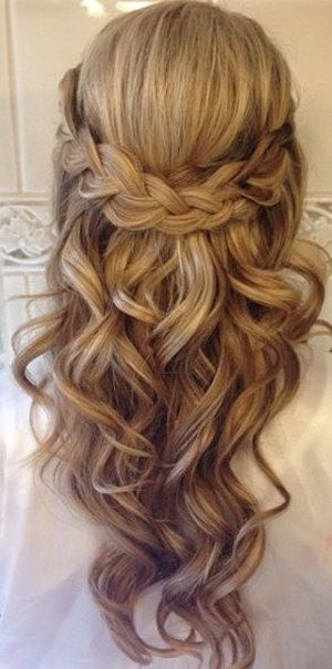 Awesome pin on hair styles Wedding Hairstyles For Long Hair Half Up Half Down With Braids Inspirations