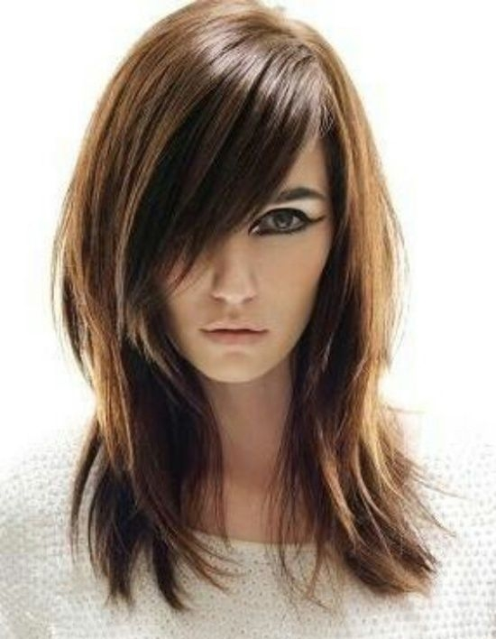 Awesome pin on primp Long Hair With Short Layers And Side Fringe Inspirations