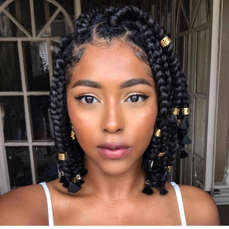 Awesome short box braids natural hair protective style natural Protective Styles For Short Hair Ideas