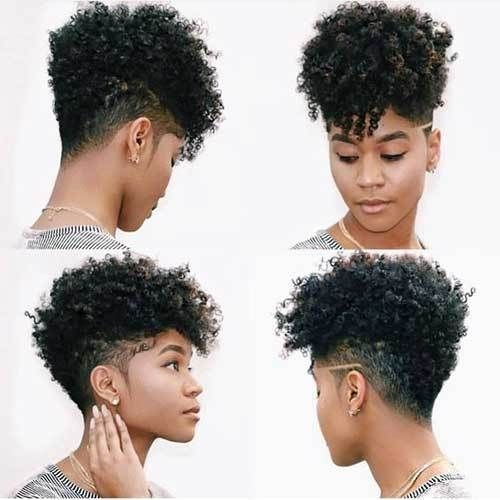 Awesome short side haircut african american hair latest short Short Curly Natural African American Hairstyles Ideas
