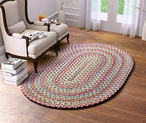Awesome super area rugs american made braided rug for indoor outdoor spaces dk taupenatural multi colored 5 x 8 oval American Made Braided Rugs Ideas