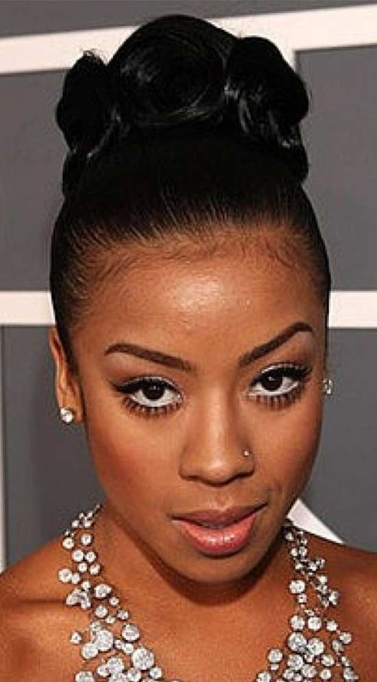 Awesome top 15 trendy updo hairstyle for black women that look great African American Wedding Hairstyles For Medium Hair