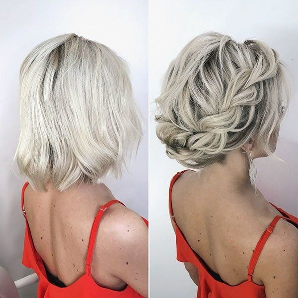 Awesome wedding hairstyles for short hair wedding to amaze Wedding Hairstyles For Bridesmaids With Short Hair Inspirations