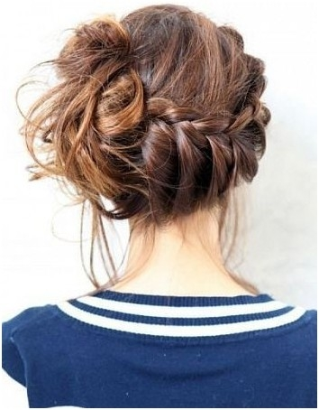 Best 10 trendy messy braid bun updos popular haircuts French Braid Bun Hairstyles Tutorial Ideas