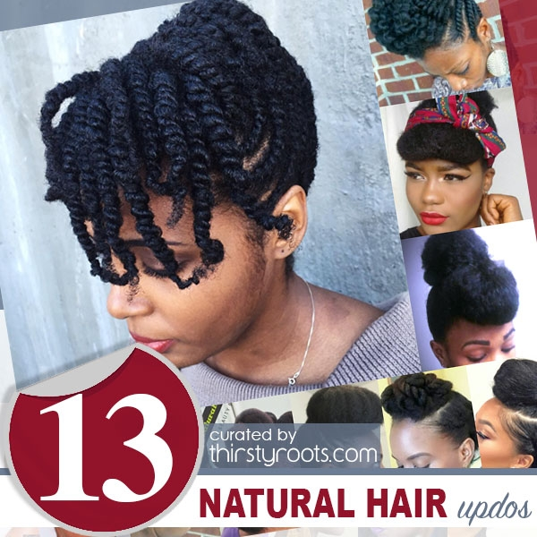 Best 13 natural hair updo hairstyles you can create Updo Hairstyles Natural African American Hair