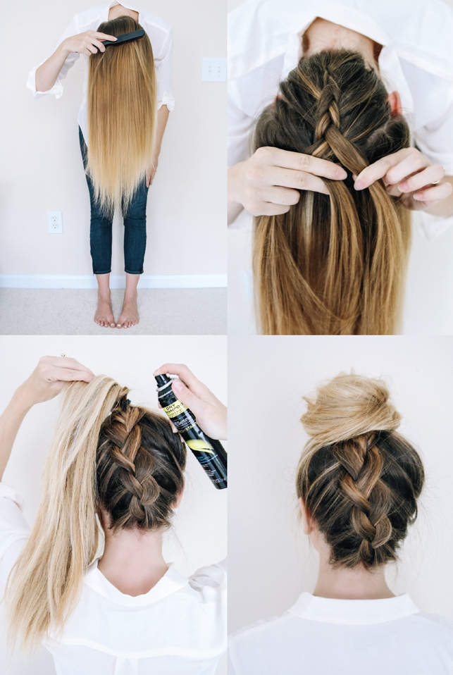 Best 14 ridiculously easy 5 minute braided hairstyles hair Braid Hairstyles For Long Hair Step By Step Ideas