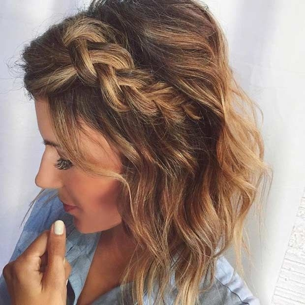 Best 17 chic braided hairstyles for medium length hair stayglam Braided Hairstyles For Curly Medium Length Hair Inspirations