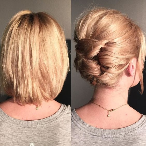 Best 20 easy updos to style your short hair the singapore Short Hair Styles Updos Ideas