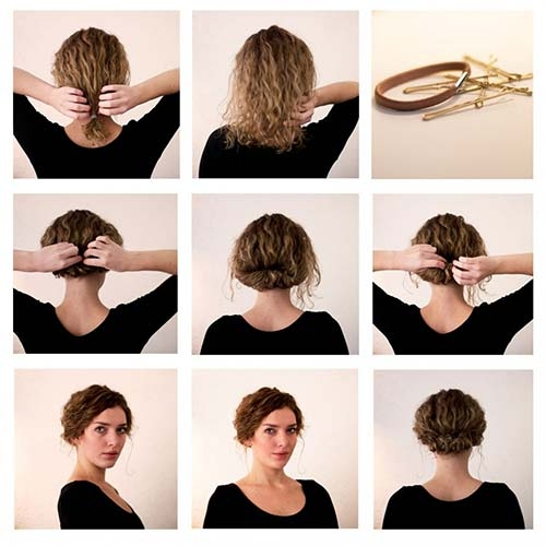 Best 20 incredibly stunning diy updos for curly hair Hairstyles For Curly Hair Short Easy Ideas
