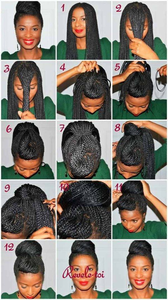 Best 21 awesome ways to style your box braids and locs natural Hair Styles For Box Braids Inspirations