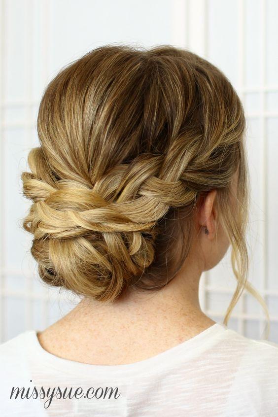 Best 25 chic braided updos for medium length hair medium length Braided Updo Hairstyles For Medium Hair Choices