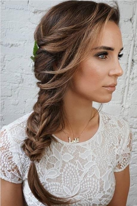 Best 25 gorgeous wedding hairstyles for long hair braided Fishtail Braid Hairstyles For Wedding Choices
