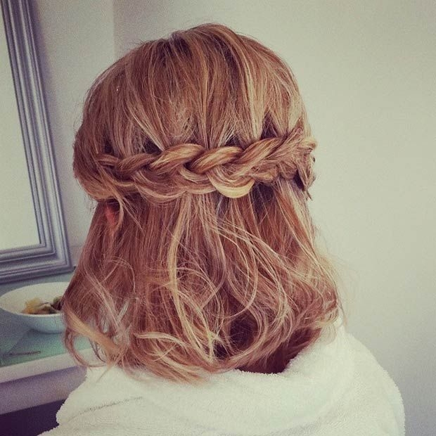 Best 26 stunning half up half down hairstyles stayglam prom Prom Hairstyles For Short Hair Half Up Half Down Curly Inspirations