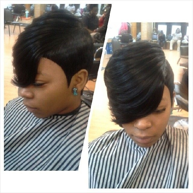 Best 27 piece feather side 27 piece hairstyles quick weave Short Weave Hairstyles 27 Pieces Ideas