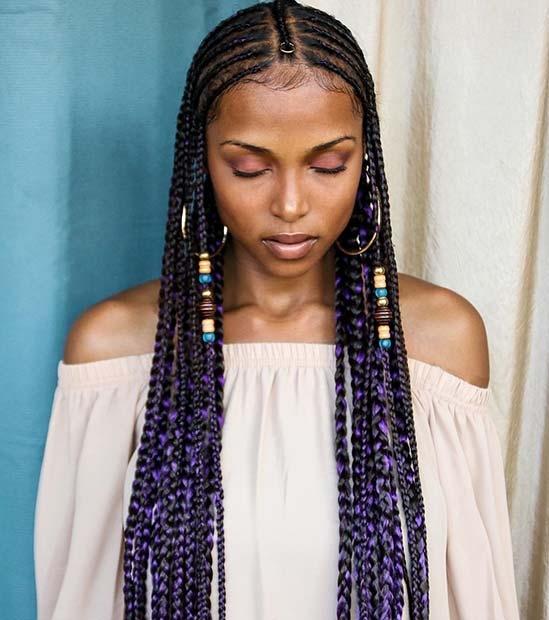 Best 32 fulani box braids for african american women that turn Braids For African Americans
